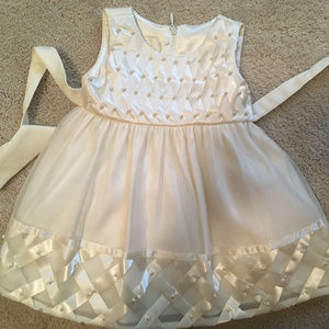Baby Girl Ivory/Pearl Formal Gown Size 12mo-EUC!
